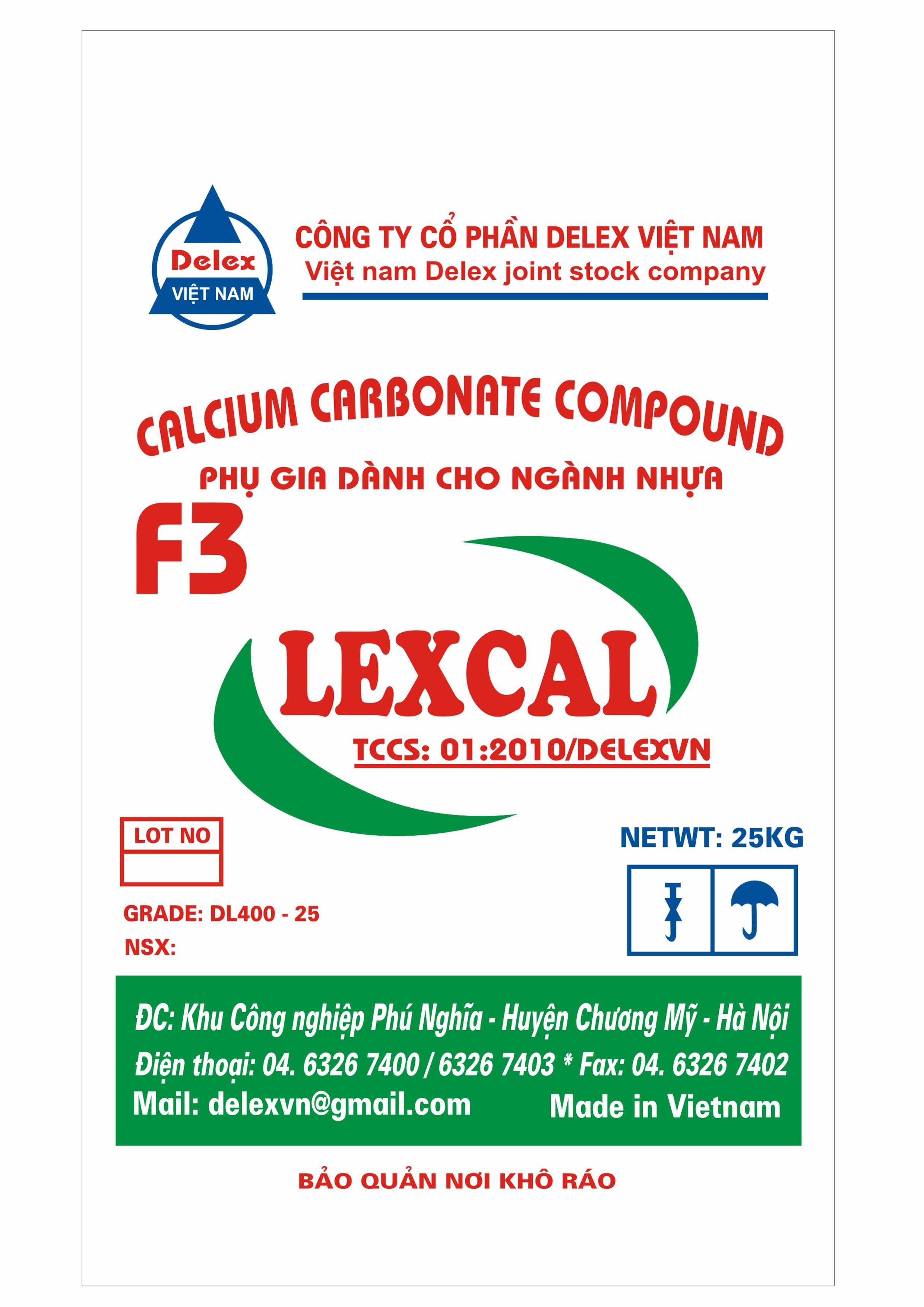 Bao Đựng phụ gia ngành nhựa LEXCAL