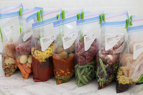 Túi zipper bảo quản thực phẩm