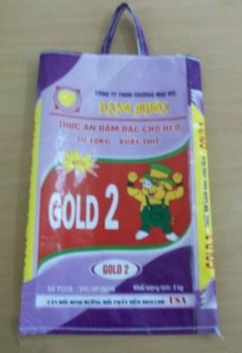 BAO THỨC ĂN ĐẬM ĐẶC CHO HEO GOLD 2 5Kg