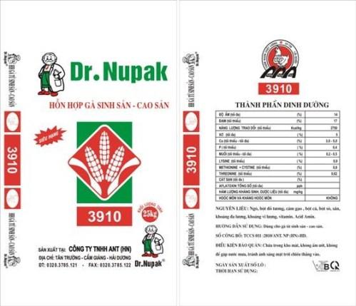 BAO HỖN HỢP GÀ SINH SẢN - CAO SẢN DR.NUPAK 3910 25Kg
