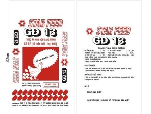 BAO THỨC ĂN HỖN HỢP DẠNG MẢNH STAR FEED GĐ 13