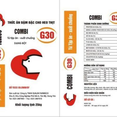 Bao bì thức ăn chăn nuôi COMBI 25 Kg
