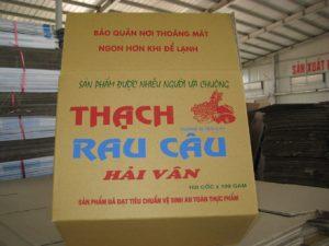thùng carton thạch rau câu Hải Vân