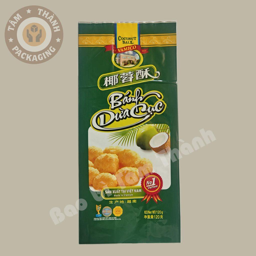 bao bì bánh dừa cục 2 màng ghép phức hợp