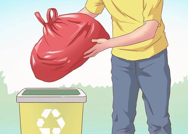 Mang chúng vào thùng đựng rác.