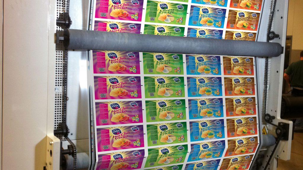 Phương pháp in flexo là lựa chọn thích hợp để in label, sticker, tem, nhãn, mác, bao bì, vỏ thùng carton