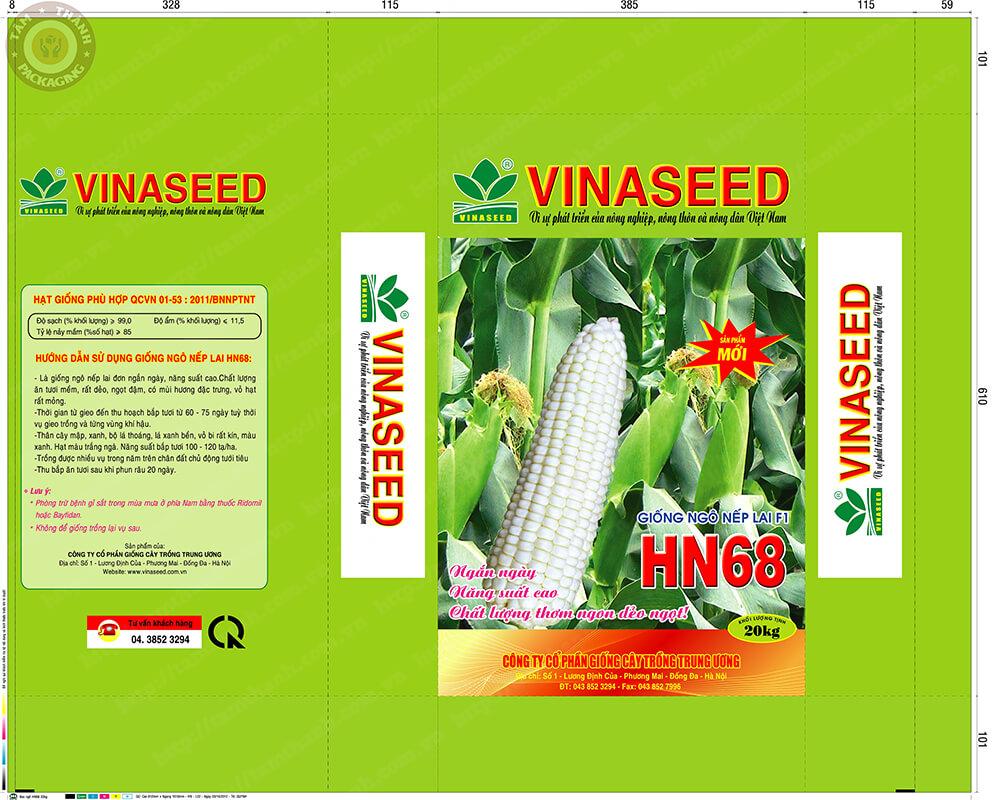 Thiết kế mẫu bao bì PP dệt hạt giống