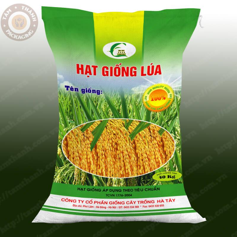 bao bì PP dệt hạt giống lúa