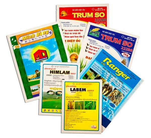 bao bì nông dược: thuốc bảo vệ thực vật